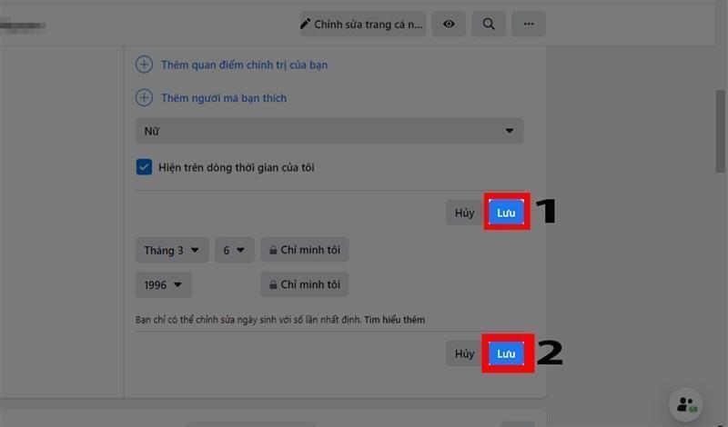 Cách tắt thông báo sinh nhật, ẩn, đổi ngày sinh Facebook