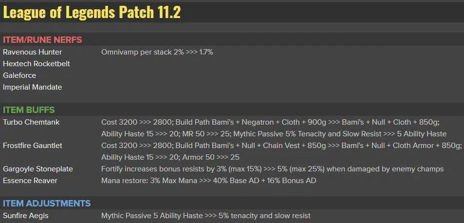 LMHT: Công bố update bản 11.2, Riot sẽ cân bằng được các item Thần Thoại của tướng Chống chịu?