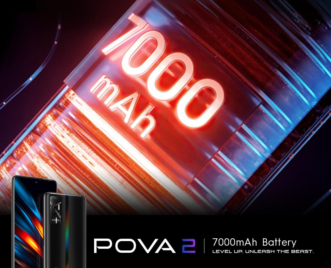 Có gì đặc biệt ở siêu phẩm TECNO POVA 2, smartphone có dung lượng pin khủng 7.000 mAh
