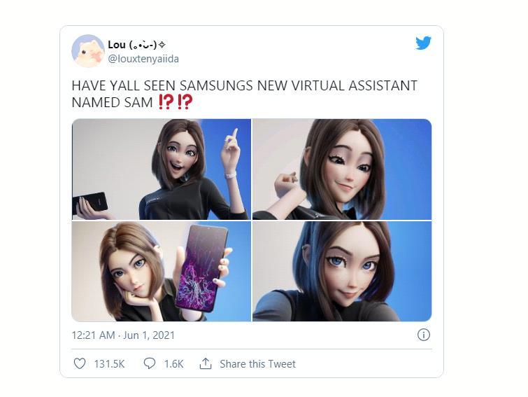 Cộng đồng mạng phát cuồng trước cô trợ lý ảo xinh đẹp dễ thương mới của Samsung