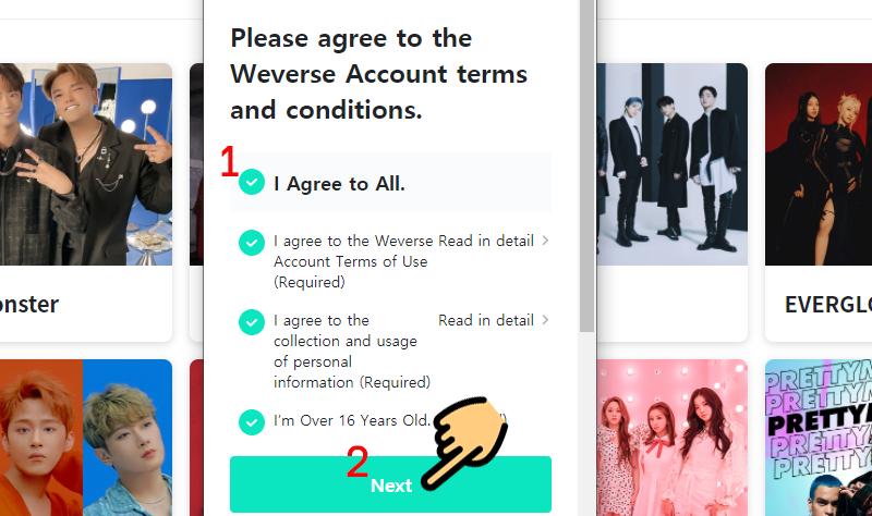 2 cách đăng ký Weverse, đăng nhập tài khoản Weverse đơn giản