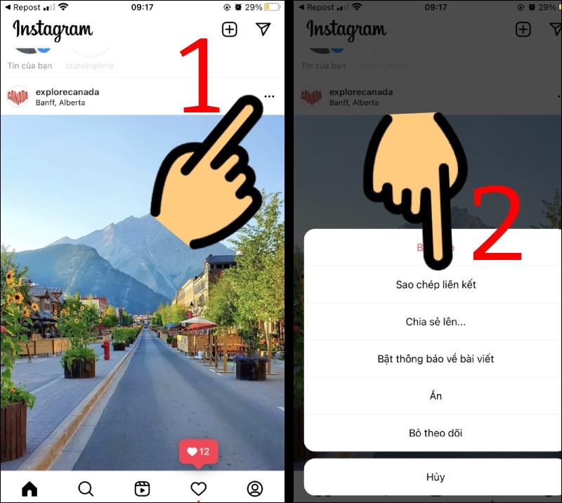 2 Cách repost ảnh, bài viết trên Instagram cho Android, iOS