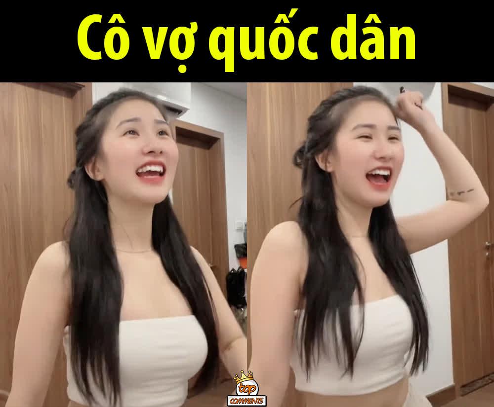 """Cận cảnh nhan sắc cô nàng hot girl Việt """"siêu vòng một"""" đang được CĐM ca tụng, tranh nhau nhận """"vợ quốc dân"""""""