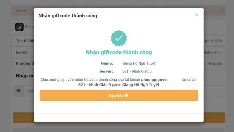 Code Giang Hồ Ngũ Tuyệt mới nhất | Cách nhập code